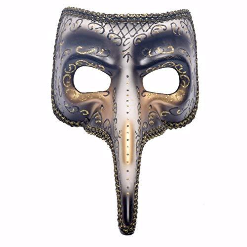 AGF+YUOP Halloween Weihnachten Maskerade Maske_High-End Venezianischen Maske Horror Unheimlich Noten Lange Nase Maske Kostüm Ball Machen