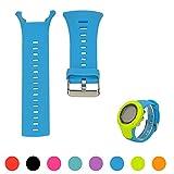 Correa de silicona iFeeker para reloj de pulsera Suunto Ambit 1, Ambit 2 o Ambit 3,ajustable (no incluye reloj), color azul celeste