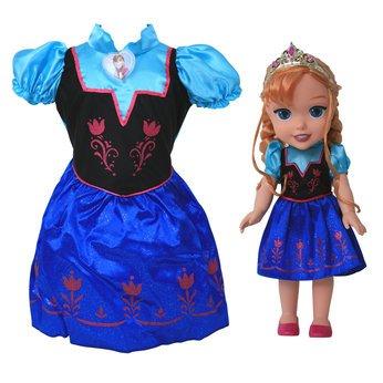 Meine Erste Disney Princess - Die Eiskönigin Prinzessin Anna, Kleinkind-Puppe - Inklusive Kostüm Kinder Größe 3-4 Jahre--Geschenk-Set