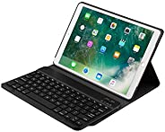 iPad Pro 10.5 2 in 1 Detachable Wireless Bluetooth Keyboard plus Slim Smart Folio Stand PU Leather Case Cover