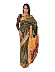 A1 Fashion Women Silk Black Saree With Blouse Piece - B00VUS07K4