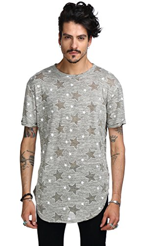 Pizoff Unisex Hip Hop Urban Basic Langes T Shirts mit Tarnmuster C7037-05