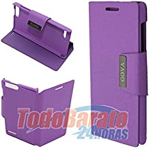 Funda libro soporte MORADA Orange Gova - Huawei Ascend G6 4G