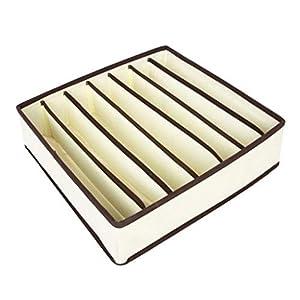 MANjia96COco Aufbewahrungsboxen für Unterwäsche und andere kleine Zubehörteile,Schubladen-Organizer,Faltbox, Stoffbox für Schrank,4er Set, zum Aufbewahren von Socken,Schals,Büstenhalter