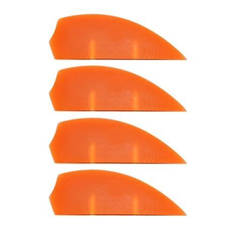 4x G10 fins Orange, Kiteboardfinnen, Buldog, wakeboard fins, G10, fin, fins, M6, surfboard fins, Black