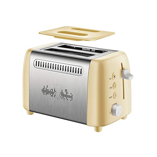 Moolo Toaster 2 Slice, Haushalts-Frühstücksmaschine Hat Stop/Entfrostungs- Und Aufwärmfunktion...