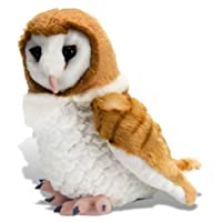 Wild Republic 13466 Barn Owl Plush Soft Toy, Brown/White, 30 cm