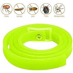 Kobwa Collar de pulgas para mascotas, collar de control de pulgas y hierbas naturales para perros y gatos, detiene los picos y picaduras, mata los mosquitos, garrapatas,mantiene a tu mascota saludable