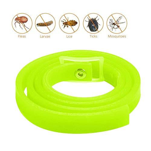 KOBWA Flohhalsband für Haustiere, natürliche, pflanzliche Abwehr von Flöhen und Zecken für Hunde und Katzen, stoppt Biss und Juckreiz, tötet Mücken, Zecken, hält Ihr Haustier gesund, Zitronengeruch -