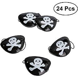 Set de parches de pirata para fiesta, 24 ud.