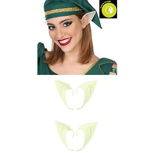 chleuchtend Spitzohren Latex Ohren für Erwachsene und Kinder Cosplay Halloween Karneval Fasching (Avatar-paar-kostüm)