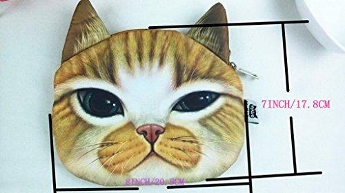 Smile YKK Katze Muster Mädchen Schultertasche Schultertasche Geldbeutel Bilder D