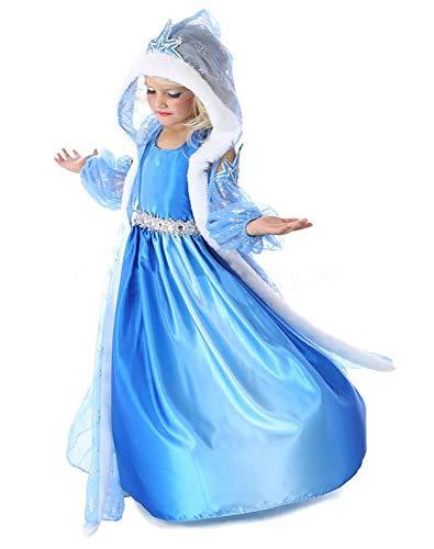 Shangrui Mädchen 3-teiliges Prinzessin Kostüm Maxi Kleid, Karneval Party Partykleid Cosplay