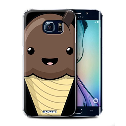 Mobile-edge-schokolade (Stuff4 Hülle / Case für Samsung Galaxy S6 Edge / Schokolade Eis Muster / Kawaii Essen Kollektion)