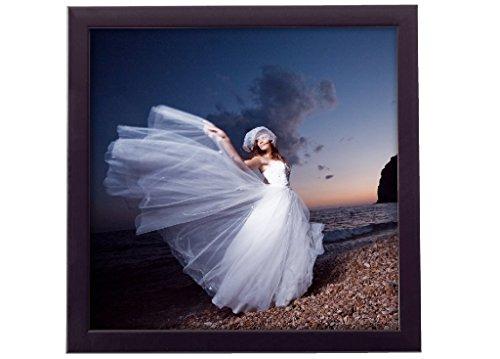 Holz - Rahmen für Bilder quadratisch 10x10 15x15 20x20 25x25 30x30 40x40 50x50 Rahmen zum Aufhängen Farbe Schwarz - Format 15x15