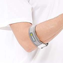 BRACOO Tennisarm Bandage – Golferarm Ellbogenbandage – Epicondylitis Manchette | Ellenbogenbandage für Tennisarm mit EVA Kompressionskissen | Standard