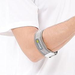 BRACOO Tennisarm Bandage – Golferarm Ellbogenbandage – Epicondylitis Spange | Ellenbogenbandage für Tennisarm mit EVA Kompressionskissen