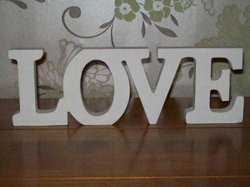 Rjb stone targhetta in legno con scritta love in stile for Scritte in legno shabby
