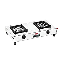 Padmini Gas Stove, 2 Burner, Silver (CS- 201)