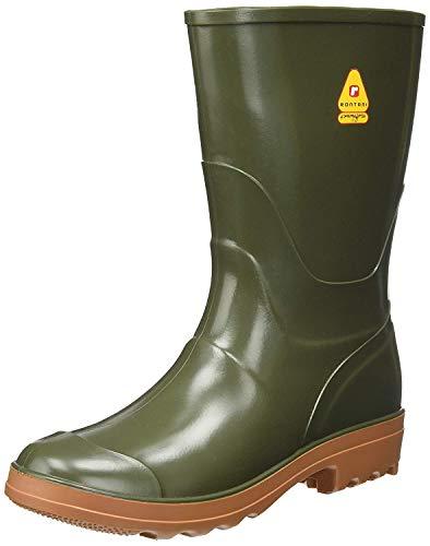 best service f2a8f 23531 Top Shop Vigor 5433042 Stivali da Lavoro Wellington con Suola Marrone,  Verde, Numero 42