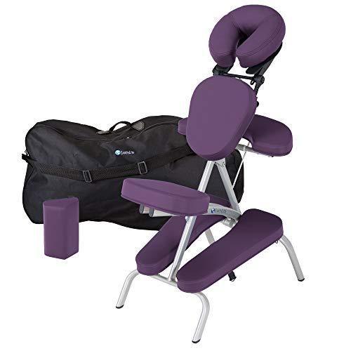 EARTHLITE Vortex Kit portable chaise de massage – Portable, compact, solide et léger (7 kg) incl. étui de rangement portable, coussin et sangle pour le sternum