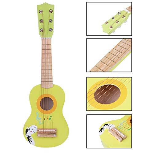 Spieland Kinder Gitarre Holz 6 Saiten Gitarre Spielzeug Musikinstrument Musik Kindergitarre Musikinstrumente Pädagogisches Spielzeug für Kinder ab 3 Jahre