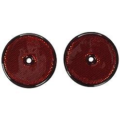 LAMPA 20525 Catarifrangenti Rotondi Ø 65 mm, Rosso