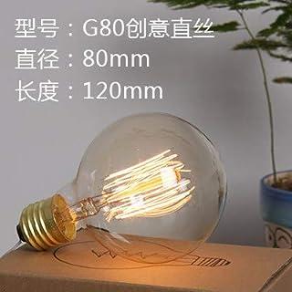 Led Bulbs Light Bulbs Bombilla Edison Bombilla De Tungsteno E27 Fuente De Luz Retro Decoración Artística Incandescente Luz Amarilla, G80, 40W