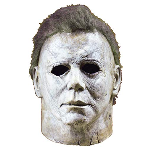 Scary Kostüm Michael Myers - Ani·Lnc Michael Myers Maske Halloween Cosplay Horror Vollmaske Scary Movie Charakter Erwachsene Cosplay Kostüm Requisiten Spielzeug