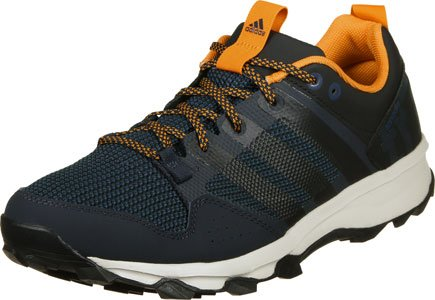 adidas Kanadia 7 Tr M, Chaussures de Running Entrainement Homme, Noir Noir / Orange (Maosno / Negbas / Eqtnar)
