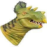 YeahiBaby Triceratops Dinosaur Hand Puppet Kids Dinosaur Gloves Dinosaur World Figure Playset