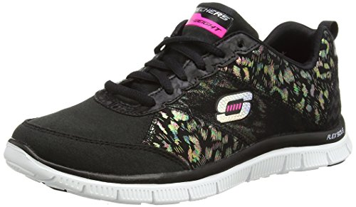 Skechers Flex Appeal Hollywood Hills, Sneakers basses femme Negro (Bkw)