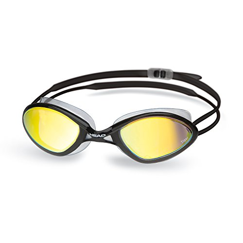 Head Tiger Race Mirrored Liquid Skin Adultos Gafas de natación, Clear de Black de Smoke, One Size