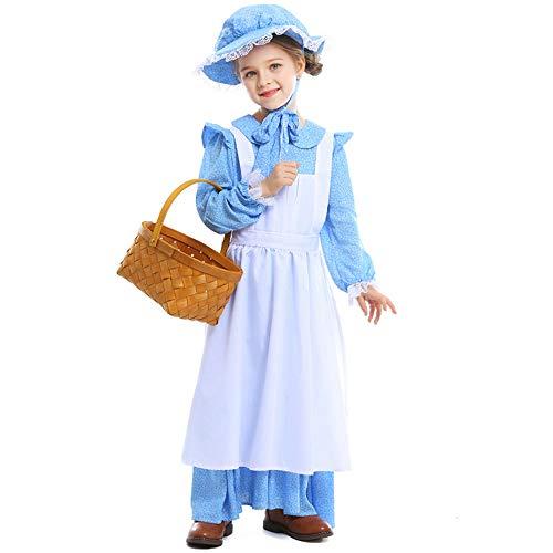 Mädchen Herren Halloween Kostüm Kinder Karneval Fasching Farm Pastoral Kostüm Bühnendrama - Farm Mädchen Kostüm