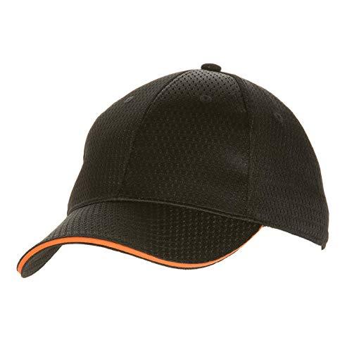 Colour by Chef Works Bcct-ora-0 Cool Vent Casquette de baseball, Orange Trim, taille unique, Noir