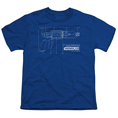 2Bhip Warehouse 13 Science Fiction Fantasy TV Series Tesla Gun Big Boys T-Shirt Tee