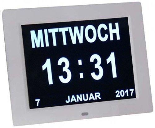 Digitaler Kalender Tag Uhr | Alzheimeruhr | Seniorenuhr
