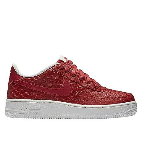 Nike Air Force 1 lv8 (Gs), Chaussures de Sport-Basketball Garçon, Rojo (Rojo (Action Red/Action Red-Summit White)), 37 1/2 EU