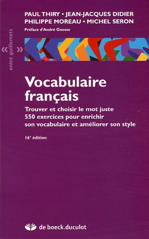 Vocabulaire franais