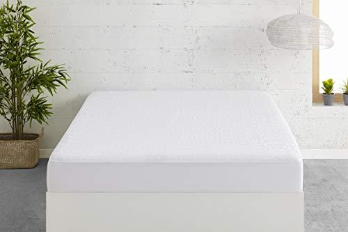 Easycosy - Protector de Colchón Impermeable Dreams - Protege Cubre Colchón Transpirable Cama 135cm (135x190/200cm) - Color Blanco