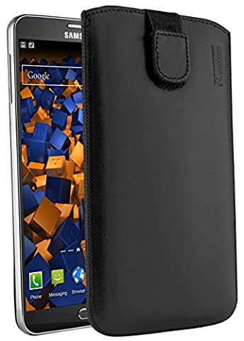 mumbi ECHT Ledertasche für Samsung Galaxy Note 3 / Note 3 Neo Tasche Leder Etui (Lasche mit Rückzugfunktion