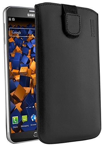 mumbi ECHT Ledertasche für Samsung Galaxy Note 3 / Note 3 Neo Tasche Leder Etui (Lasche mit Rückzugfunktion Ausziehhilfe)