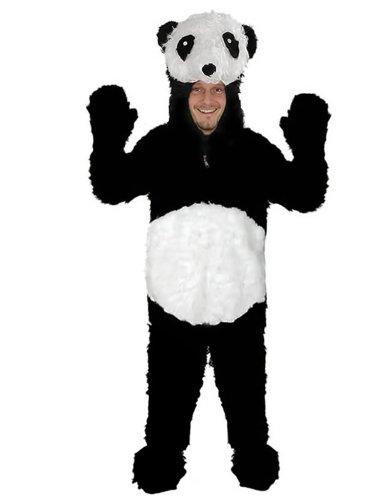 Panda Bär Fell offen Einheitsgrösse L-XL Kostüm Fasching Karneval Maskottchen ...
