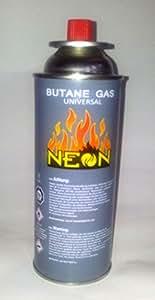 Lot de 4 neon butane 227 g cartouche mSF - 1A de gaz butane pour réchaud à campinggas gaz et lampe