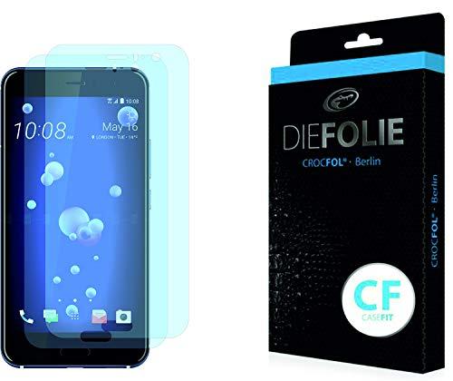 Crocfol Bildschirmschutz für HTC U11: 2X DIEFOLIE Schutzfolie Casefit Folie zur Nutzung mit Schutzhülle/Case