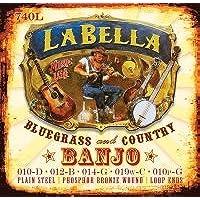 La bella banjo 5STR Phs Brnz set luce–Loop End