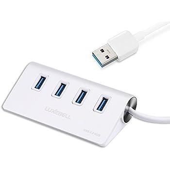 Luxebell USB Hub 3.0 4 porte SuperSpeed in Alluminio con Cavo USB 3.0