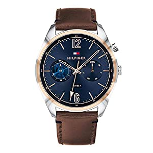 Tommy Hilfiger Mens Multi dial Quartz Watch with Leather Strap 1791549