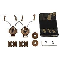 Z-Tactical: juego de raíl adaptador ARC para auriculares COMTAC I/II de airsoft, canela