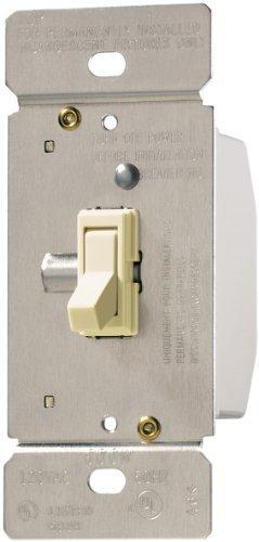 Cooper Wiring Devices TI061-LA TRACE 600-watt 125-volt Single Pole 3-Way Toggle Dimmer, Non-Preset, Light Almond Color by Cooper Wiring Devices (Dimmer Toggle)